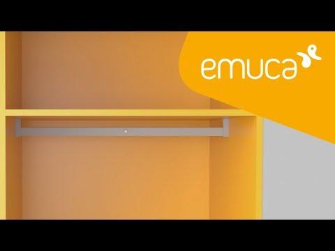 Cómo instalar la barra de colgar iluminada Polux en un armario - Emuca