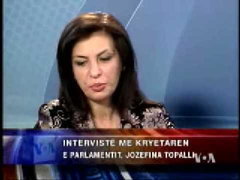 Intervistë me Znj. Jozefina Topalli