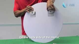 Frameless Round Mirror