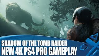 Shadow Of The Tomb Raider - New PS4 Pro Gameplay in 4K!