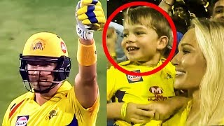 Watson's Son Enjoying Daddy' Mersal Sixes | CSK vs RR | IPL 2018