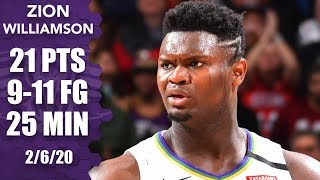 Zion Williamson puts up fourth straight 20-point game vs. Bulls | 2019-20 NBA Highlights
