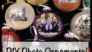 DIY: How To Make Christmas Photo Ornaments