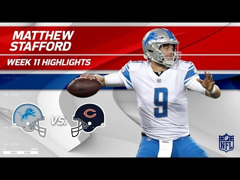 Stafford Leads Detroit to Victory w/ 2 TDs & 299 Yards! | Lions vs. Bears | Wk 11 Player HLs