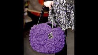 Очень красивые вязаные сумки