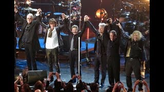 Bon Jovi being inducted to the Rock N' Roll Hall Of Fame