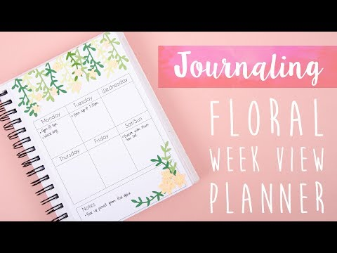 How To Create a Floral Weekly Journal - Sizzix
