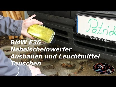 BMW E36 Nebelscheinwerfer  Ausbauen und Leuchtmittel Tauschen