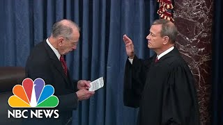 Chief Justice Roberts Swears In Senators For The Impeachment Trial Of President Trump | NBC News
