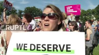 USA: Protesters march on Capitol Hill to protest GOP healthcare bill