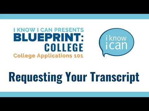 Requesting Your Transcript