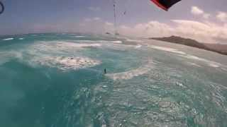 preview picture of video 'kailua kiteboarding  feb17 josh seymour hawaiian watersports 1st edit ever'