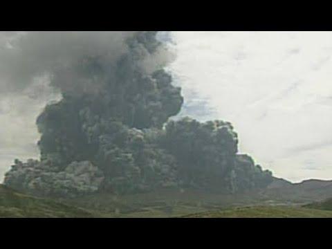 Volcano erupts on southwestern Japan island