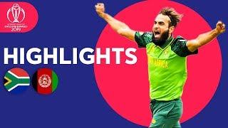 Imran Tahir Takes 4!   South Africa vs Afghanistan - Match Highlights   ICC Cricket World Cup 2019
