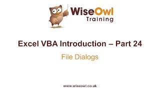 Download Youtube: Excel VBA Introduction Part 24 - File Dialogs