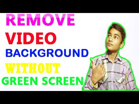 how to remove video background without green screen on android very easy explained step by step
