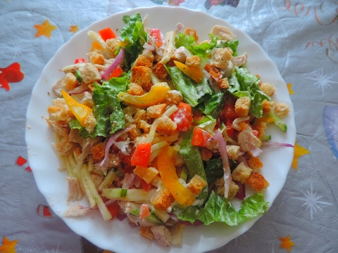 "Очень вкусный салат ""АБХАЗИЯ"". Very tasty salad ""ABKHAZIA""."
