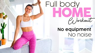20 MINUTE FULL BODY HOME WORKOUT! No Equipment, No Noise!