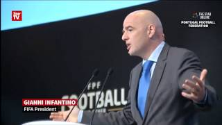 Infantino says more team qualifying for World Cup changes the players