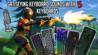 Satisfying Keyboard Sounds With 5 Different Keyboards