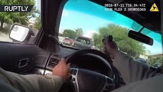 Погоня и выстрелы в Лас-Вегасе: видео работы полиции в стиле голливудского боевика