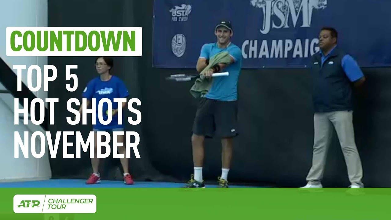 Обзор лучших ударов ноября на турнирах ATP Challenger Tour (ВИДЕО)