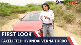 Hyundai Verna Facelift: First Look |  carandbike