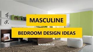 50+ Cool Masculine Bedroom Design Ideas 2018