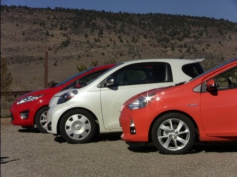 2013 Ford Fiesta vs Toyota Prius C vs Scion IQ Comparison Review