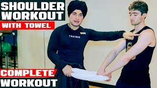Shoulder Workout With Towel | Home Workout Video 2019 | Speed Fitness