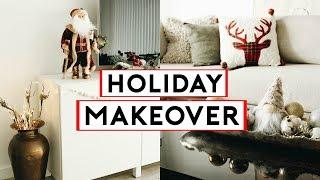 HOLIDAY APARTMENT MAKEOVER! COZY + MINIMAL CHRISTMAS DECOR 2019 🎄🎁  Nastazsa