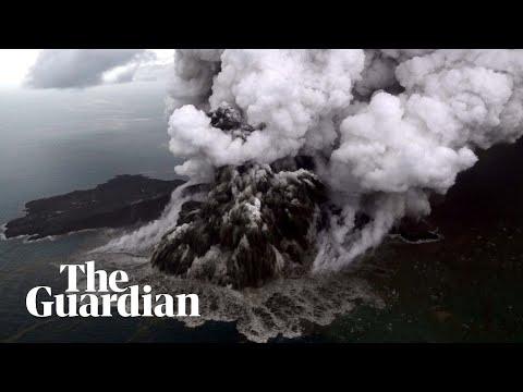 Βίντεο – σοκ: Η ώρα της έκρηξης του ηφαιστείου που προκάλεσε το φονικό τσουνάμι στην Ινδονησία