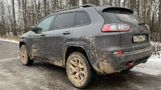 Взял Jeep Cherokee Trailhawk - теперь с V6 на трассе!