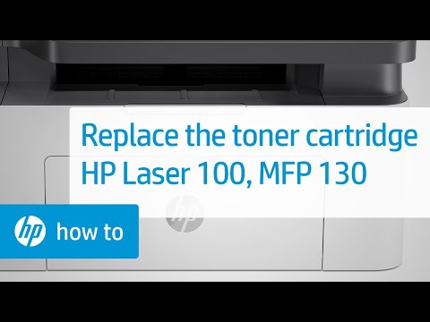 How to Replace a Toner Cartridge in the HP Laser 100 and MFP 130 Printer Series