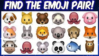 Find The Emoji Pair | Emoji Puzzles | Spot The Odd Emoji Pair |  Find The Pair Game Emojis Quiz