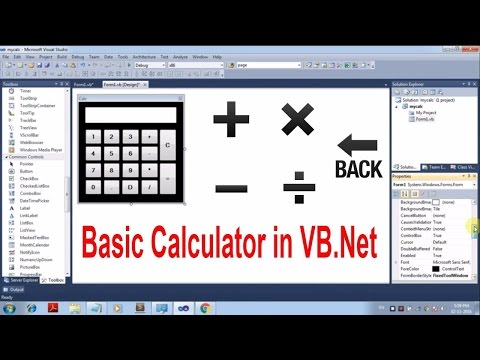 How to Create Calculator in Visual Basic.Net [Tutorial]