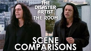The Disaster Artist (2017) and The Room (2003) - scene comparisons