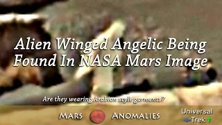 Alien Winged Angelic Being  Found In NASA Mars Image ★★★