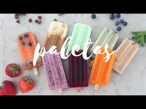 Paletas De Hielo Con Frutas y Verduras