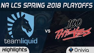 TL vs 100 Highlights Game 1 NA LCS Spring Playoffs 2018 Team Liquid vs 100Thieves by Onivia