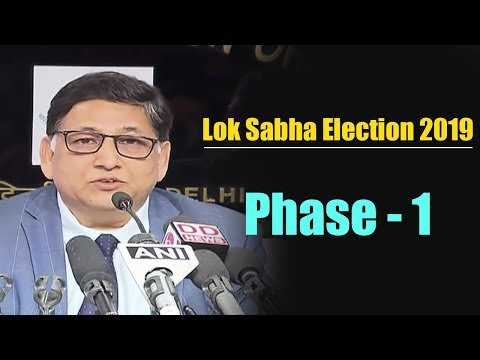 Election commission briefs media on completion of phase-1 of #Elections2019