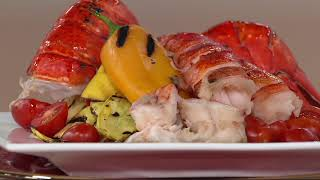 Greenhead Lobster (18) 4-5 oz. Lobster Tails with 1lb Butter on QVC