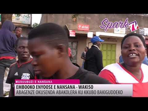 Abagenze okusenda abasuubuzi bakiguddeko e Nansana, babakubye mizibu