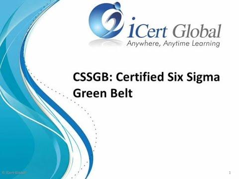 Six Sigma Green Belt Certification Training Courses | iCert Global ...
