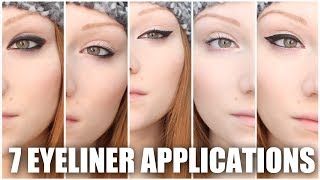 7 Different Eyeliners Makeup Tutorial