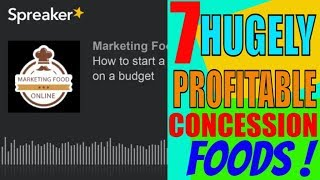 How to start a food concession business on a budget Small start high margin