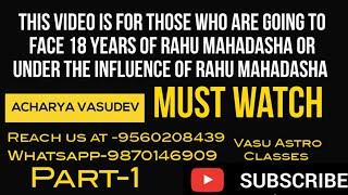 18 years of Rahu Mahadasha Or under the influence of Rahu Mahadasha-By Acharya Vasudev