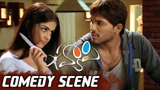 Allu Arjun Scolding His Friends With Genelia | Happy Movie Comedy Scene