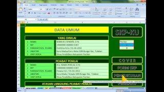Contoh SKP Guru SD Format Excel