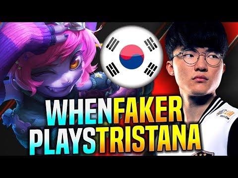 FAKER HARD CARRY WITH TRISTANA MID! - SKT T1 Faker Plays Tristana vs Pantheon Mid! | Faker KR SoloQ